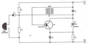 Gambar Skema Rangkaian Mikrofon Tanpa Kabel