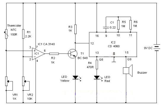 Gambar Skema Rangkaian Sensor Dingin