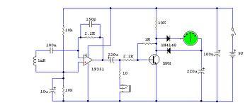 Gambar Skema Rangkaian Detektor Medan Elektromagnetik