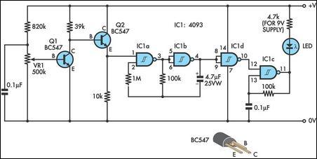 Gambar Skema Rangkaian Indikator Kondisi Baterei