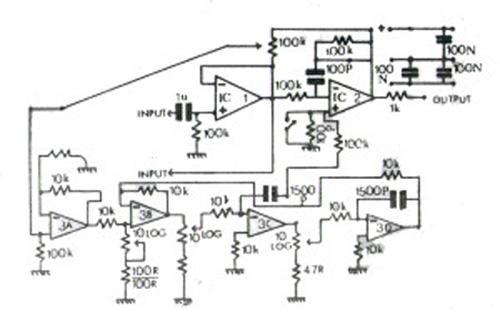 Gambar Skema Rangkaian Parametrik Equalizer