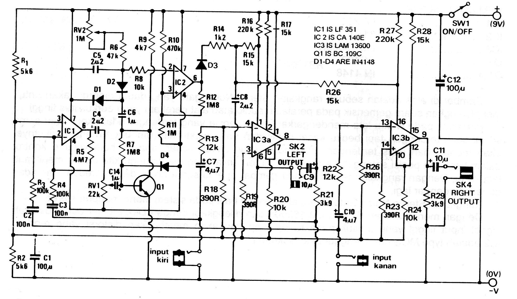 ... Skema Rangkaian Penghilang Noise | Gambar Skema Rangkaian Elektronika