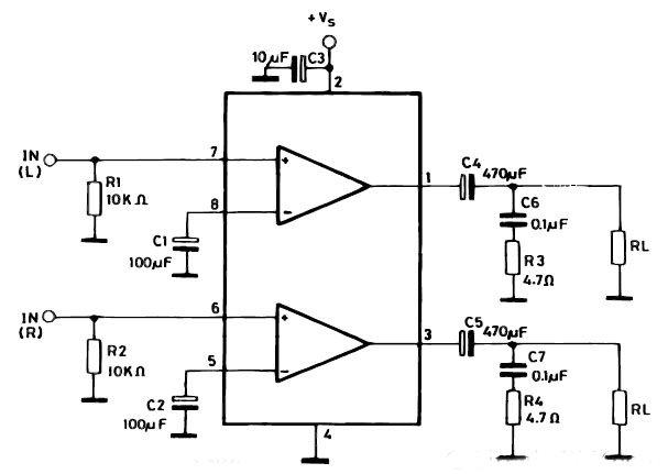 Gambar Skema Rangkaian Amplifier Laptop