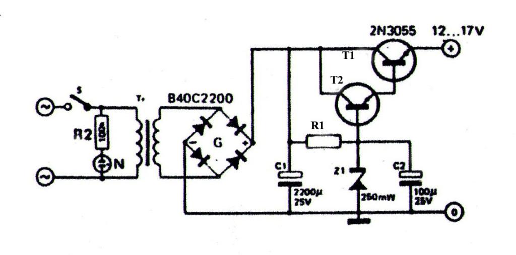 Gambar Skema Rangkaian Power Supply