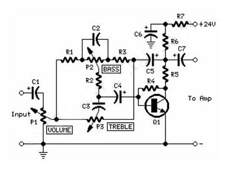 Gambar Skema Rangkaian Tone Control Sederhana