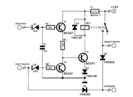 Gambar Skema Rangkaian Lampu Mobil Otomatis