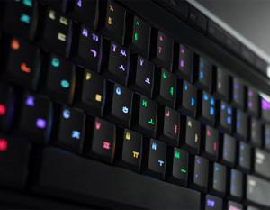 lampu LED pada keyboard