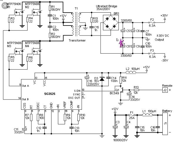 2 Skema Inverter Dc To Dc Simetris Menaikkan Tegangan